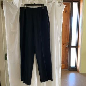 B1923 Coldwater Creek Black Dress Pants Slacks 8